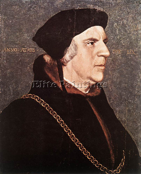 HANS HOLBEIN THE YOUNGER PORTRAIT OF SIR WILLIAM BUTTS ARTIST PAINTING HANDMADE