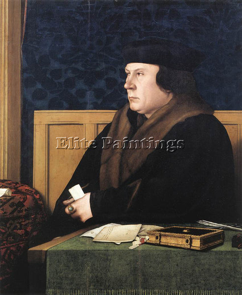 HANS HOLBEIN THE YOUNGER PORTRAIT OF THOMAS CROMWELL ARTIST PAINTING HANDMADE