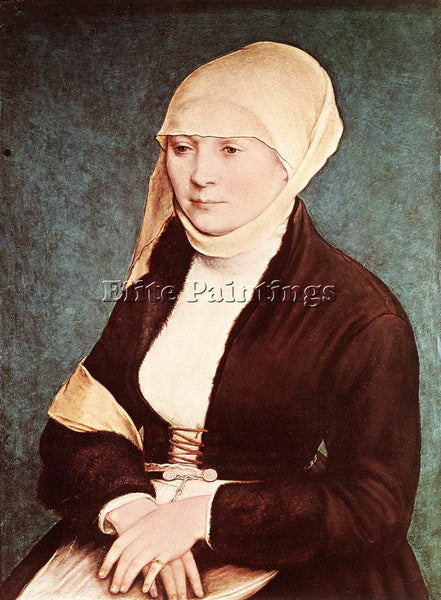 HANS HOLBEIN THE YOUNGER PORTRAIT OF THE ARTIST S WIFE ARTIST PAINTING HANDMADE