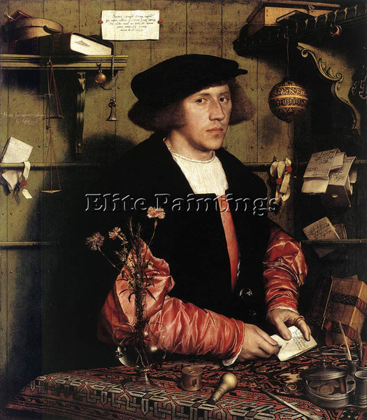 HANS HOLBEIN THE YOUNGER PORTRAIT OF THE MERCHANT GEORG GISZE PAINTING HANDMADE