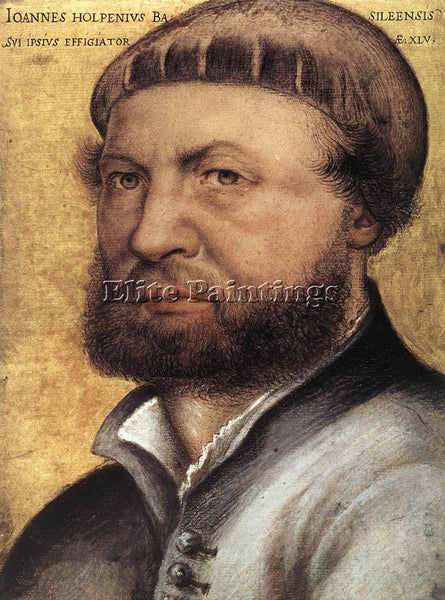 HANS HOLBEIN THE YOUNGER SELF PORTRAIT ARTIST PAINTING REPRODUCTION HANDMADE OIL