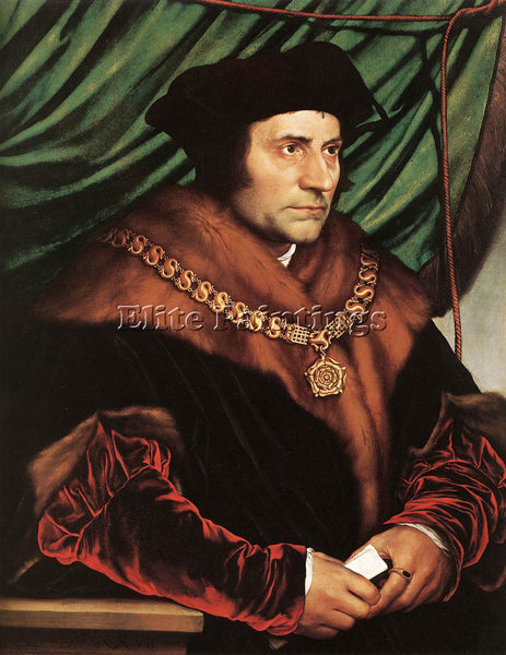 HANS HOLBEIN THE YOUNGER SIR THOMAS MORE2 ARTIST PAINTING REPRODUCTION HANDMADE