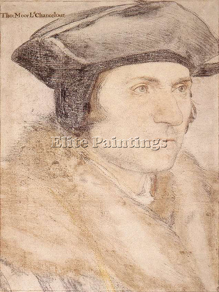 HANS HOLBEIN THE YOUNGER SIR THOMAS MORE ARTIST PAINTING REPRODUCTION HANDMADE
