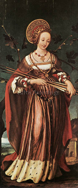 HANS HOLBEIN THE YOUNGER ST URSULA ARTIST PAINTING REPRODUCTION HANDMADE OIL ART