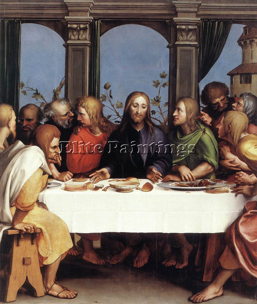 HANS HOLBEIN THE YOUNGER THE LAST SUPPER ARTIST PAINTING REPRODUCTION HANDMADE