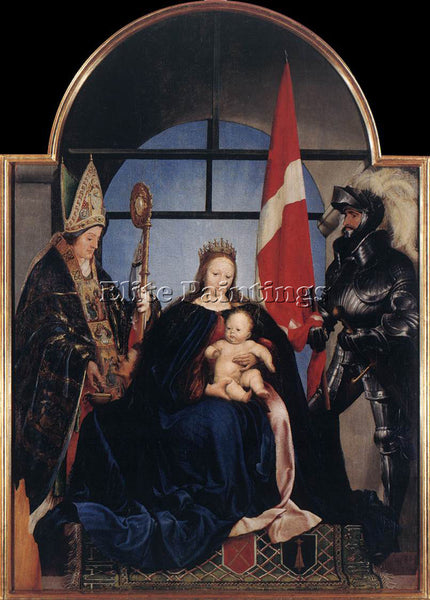 HANS HOLBEIN THE YOUNGER THE SOLOTHURN MADONNA ARTIST PAINTING REPRODUCTION OIL