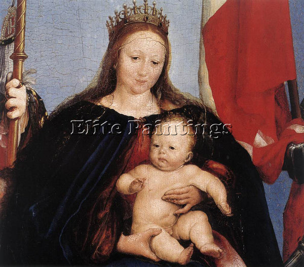 HANS HOLBEIN THE YOUNGER THE SOLOTHURN MADONNA DETAIL 1 ARTIST PAINTING HANDMADE