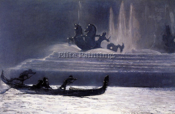 WINSLOW HOMER THE FOUNTAINS AT NIGHT WORLD S COLUMBIAN EXPOSITION ARTIST CANVAS