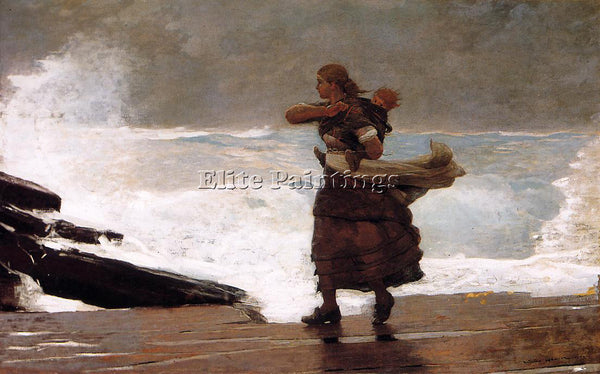 WINSLOW HOMER THE GALE ARTIST PAINTING REPRODUCTION HANDMADE CANVAS REPRO WALL
