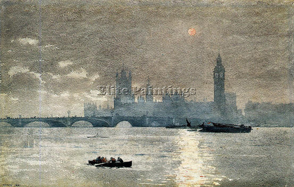 WINSLOW HOMER THE HOUSES OF PARLIAMENT ARTIST PAINTING REPRODUCTION HANDMADE OIL