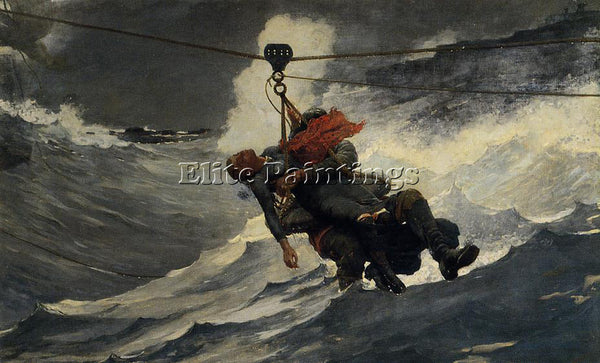 WINSLOW HOMER THE LIFE LINE ARTIST PAINTING REPRODUCTION HANDMADE OIL CANVAS ART