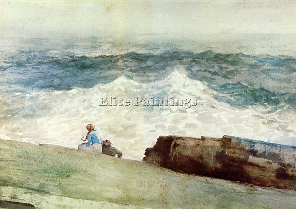 WINSLOW HOMER THE NORTHEASTER ARTIST PAINTING REPRODUCTION HANDMADE CANVAS REPRO