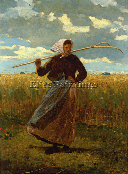 WINSLOW HOMER THE RETURN OF THE GLEANER ARTIST PAINTING REPRODUCTION HANDMADE