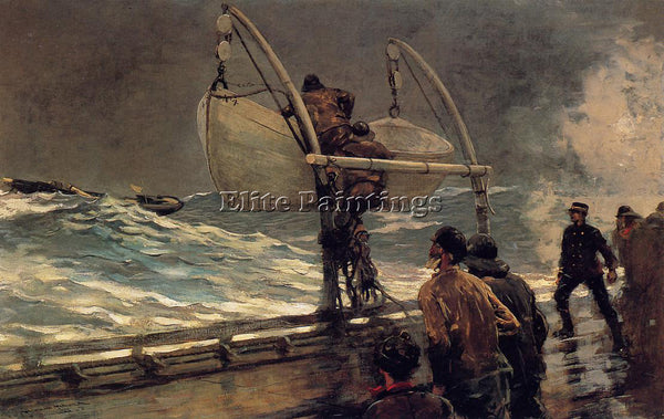 WINSLOW HOMER THE SIGNAL OF DISTRESS ARTIST PAINTING REPRODUCTION HANDMADE OIL
