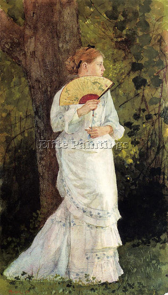 WINSLOW HOMER THE TRYSTING PLACE ARTIST PAINTING REPRODUCTION HANDMADE OIL REPRO
