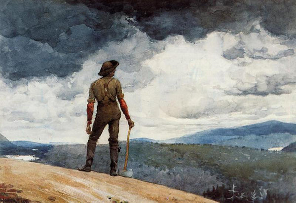 WINSLOW HOMER THE WOODCUTTER ARTIST PAINTING REPRODUCTION HANDMADE CANVAS REPRO