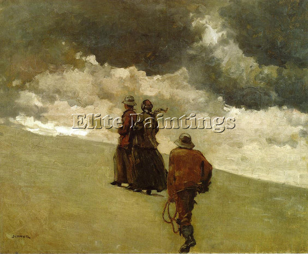 WINSLOW HOMER TO THE RESCUE ARTIST PAINTING REPRODUCTION HANDMADE OIL CANVAS ART