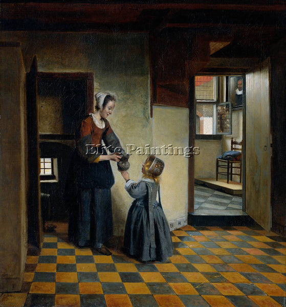 PIETER DE HOOCH WOMAN WITH A CHILD IN A PANTRY ARTIST PAINTING REPRODUCTION OIL