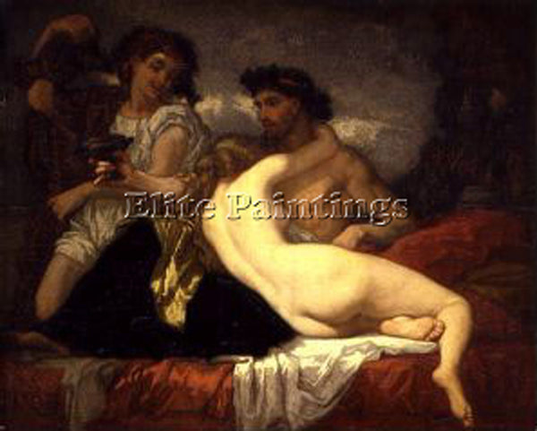 THOMAS COUTURE HORACE AND LYDIA ARTIST PAINTING REPRODUCTION HANDMADE OIL CANVAS
