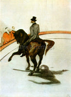TOULOUSE-LAUTREC HORSE IN THE RING ARTIST PAINTING REPRODUCTION HANDMADE OIL ART