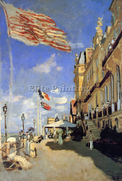 MONET HOTEL DE ROCHES NOIRES A TROUVILLE ARTIST PAINTING REPRODUCTION HANDMADE
