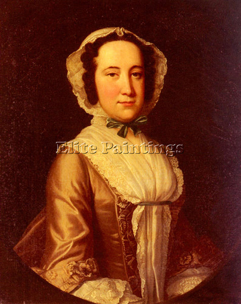AMERICAN HUDSON THOMAS PORTRAIT OF A LADY ARTIST PAINTING REPRODUCTION HANDMADE