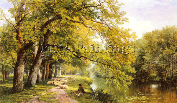 FREDERICK WILLIAM HULME AT OCKHAM SURREY IN SUMMER ARTIST PAINTING REPRODUCTION