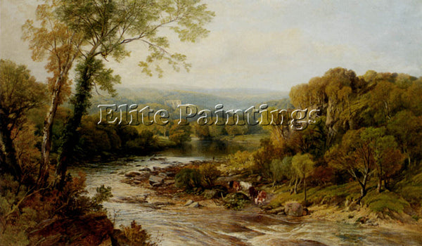 FREDERICK WILLIAM HULME BARDEN TOWER ONJ THE WHARFE YORKSHIRE PAINTING HANDMADE