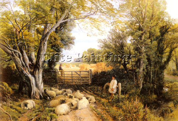 FREDERICK WILLIAM HULME LANDSCAPE IN WALES ARTIST PAINTING REPRODUCTION HANDMADE