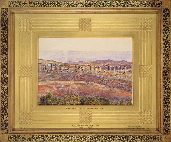 WILLIAM HOLMAN HUNT HUNT WH THE DEAD SEA FROM SILOAM ARTIST PAINTING HANDMADE