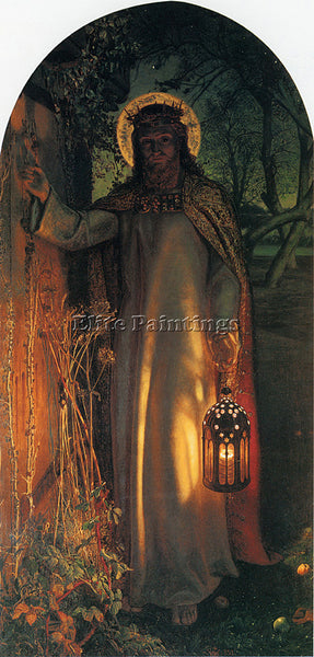 WILLIAM HOLMAN HUNT HUNT W H THE LIGHT OF THE WORLD ARTIST PAINTING REPRODUCTION