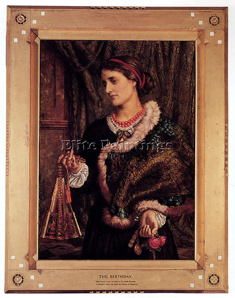 WILLIAM HOLMAN HUNT THE BIRTHDAY A PORTRAIT OF THE ARTISTS WIFE EDITH ARTIST OIL