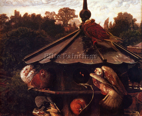 WILLIAM HOLMAN HUNT THE FESTIVAL OF ST SWITHIN OR THE DOVECOTE PAINTING HANDMADE