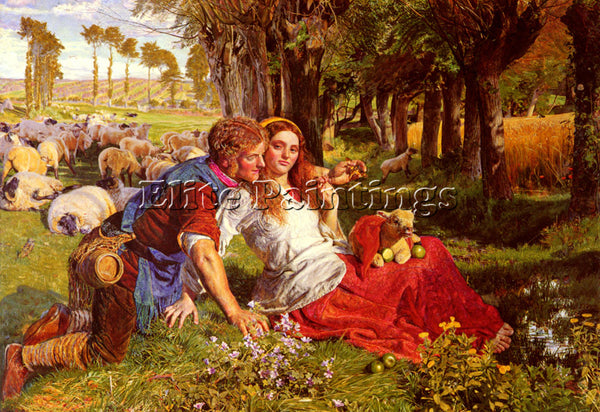 WILLIAM HOLMAN HUNT THE HIRELING SHEPHERD ARTIST PAINTING REPRODUCTION HANDMADE