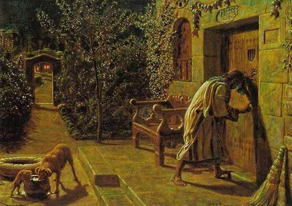WILLIAM HOLMAN HUNT THE IMPORTUNATE NEIGHBOUR ARTIST PAINTING REPRODUCTION OIL