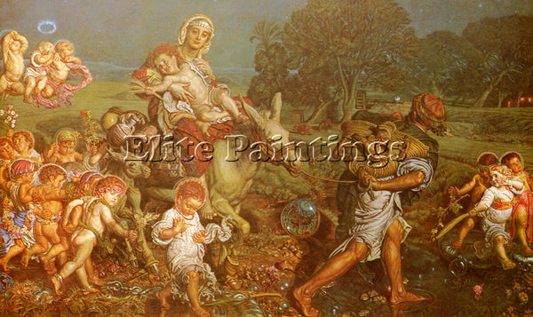 WILLIAM HOLMAN HUNT THE TRIUMPH OF THE INNOCENTS ARTIST PAINTING HANDMADE CANVAS