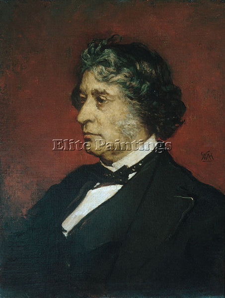 WILLIAM MORRIS HUNT CHARLES SUMNER ARTIST PAINTING REPRODUCTION HANDMADE OIL ART