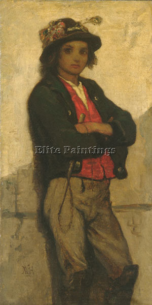 WILLIAM MORRIS HUNT ITALIAN BOY ARTIST PAINTING REPRODUCTION HANDMADE OIL CANVAS