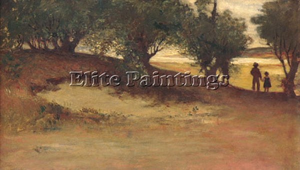 WILLIAM MORRIS HUNT SAND BANK WITH WILLOWS ARTIST PAINTING REPRODUCTION HANDMADE