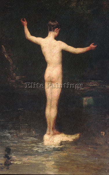 WILLIAM MORRIS HUNT THE BATHERS ARTIST PAINTING REPRODUCTION HANDMADE OIL CANVAS