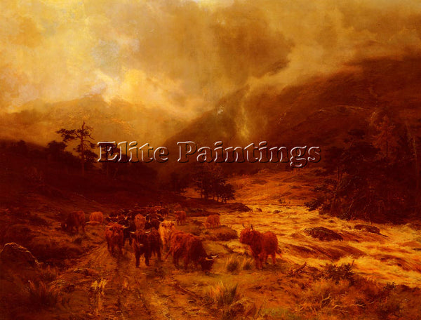 BRITISH HURT LOUIS BOSWORTH GLEN DOCHART PERTHSHIRE ARTIST PAINTING REPRODUCTION