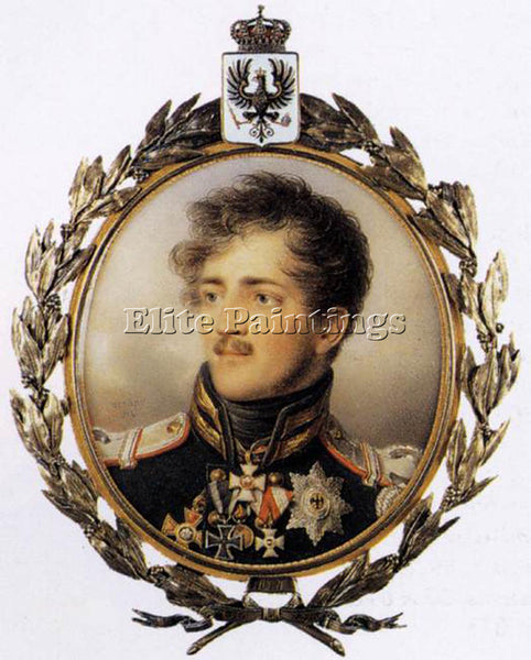FRENCH ISABEY JEAN BAPTIST PRINCE AUGUST OF PRUSSIA ARTIST PAINTING REPRODUCTION