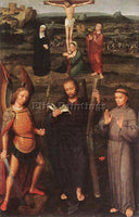 ISENBRANDT ARCHANGEL ST MICHAEL ST ANDREW AND ST FRANCIS ASSISSI ARTIST PAINTING