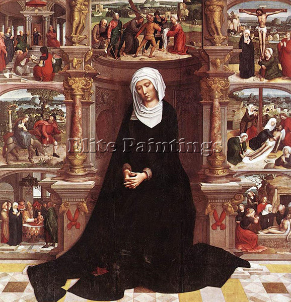 ADRIAEN ISENBRANDT OUR LADY OF THE SEVEN SORROWS ARTIST PAINTING HANDMADE CANVAS