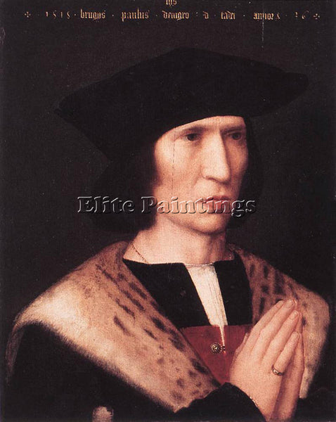ADRIAEN ISENBRANDT PORTRAIT OF PAULUS DE NIGRO ARTIST PAINTING REPRODUCTION OIL