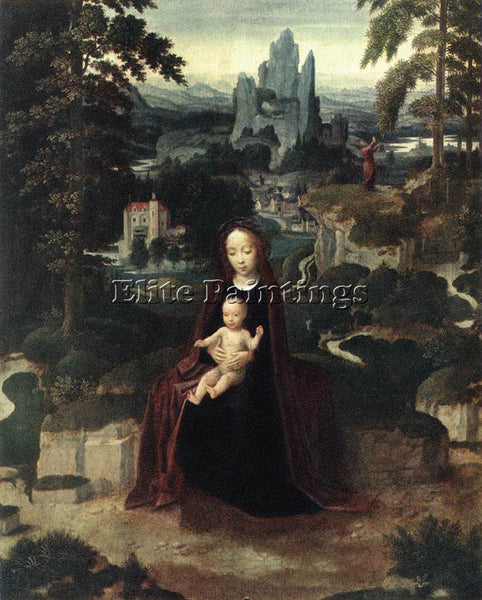 ADRIAEN ISENBRANDT REST DURING THE FLIGHT TO EGYPT ARTIST PAINTING REPRODUCTION