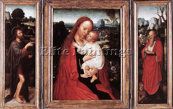ADRIAEN ISENBRANDT TRIPTYCH ARTIST PAINTING REPRODUCTION HANDMADE OIL CANVAS ART