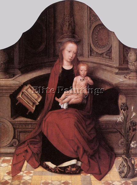 ADRIAEN ISENBRANDT VIRGIN AND CHILD ENTHRONED ARTIST PAINTING REPRODUCTION OIL
