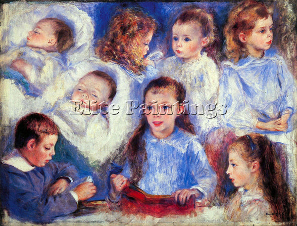 RENOIR IMAGES OF CHILDREN S CHARACTER HEADS ARTIST PAINTING HANDMADE OIL CANVAS