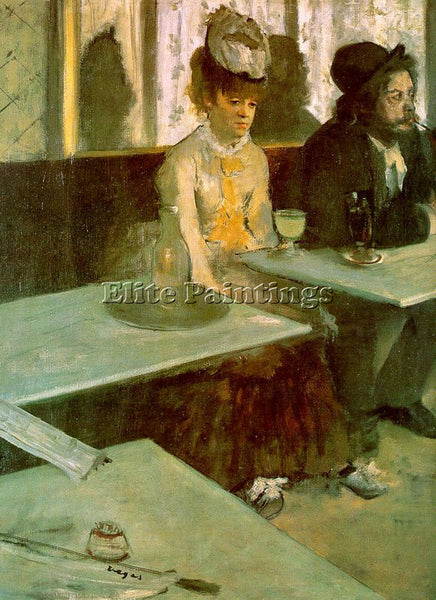 EDGAR DEGAS IN A CAFE THE ABSINTHE DRINKER ARTIST PAINTING REPRODUCTION HANDMADE
